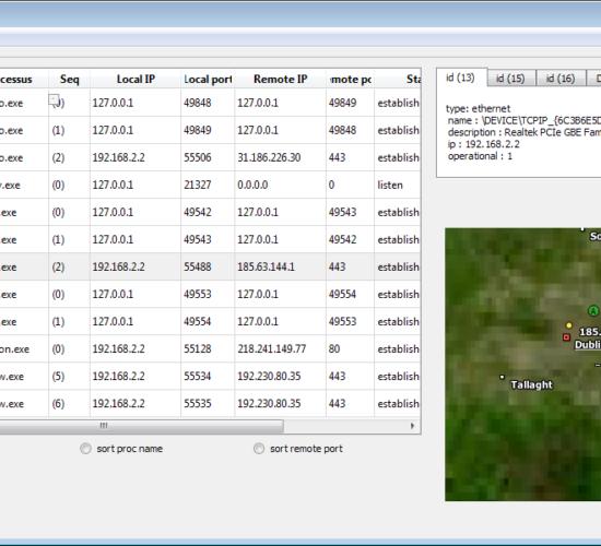 Développement outil de monitoring TCP/IP